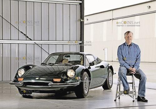 Вот так выглядел откопанный автомобиль Ferrari Dino 246 GTS после восстановления