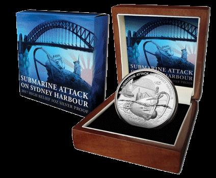 1 доллар Нападение на Сидней-Харбор, подарочная упаковка