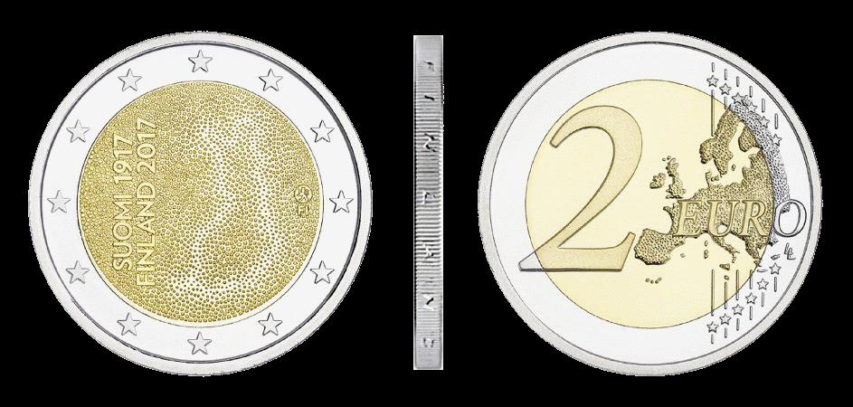 2 евро 100 лет независимости Финляндии