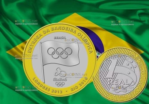 Монета олимпийский реал Бразилии продолжает дорожать