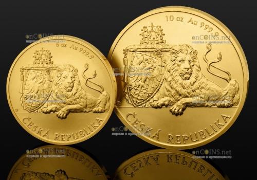Чехия - инвестиционная монета Чешский лев
