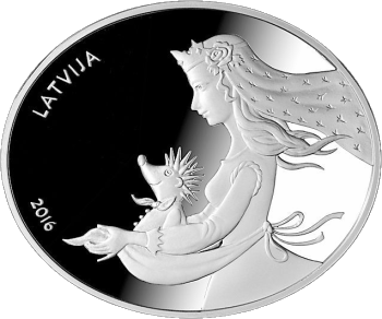 Ежова шубейка 5 евро - лучшая монета 2016 года, аверс