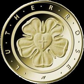 Германия монета 50 евро 500-летие Реформации, золото, реверс