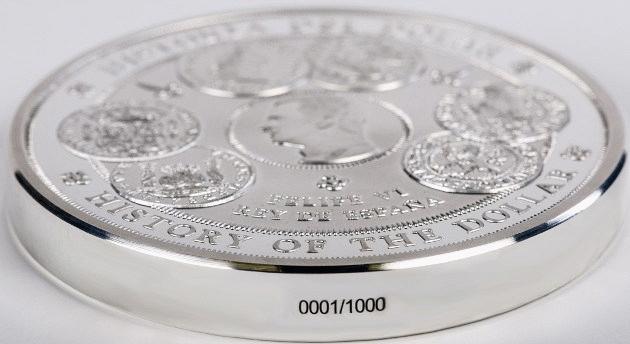 Испания монета 300 евро история доллара, боковая поверхность