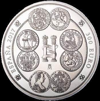 Испания монета 300 евро история доллара, серебро - аверс