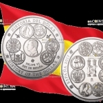 Испания монета 300 евро история доллара, серебро