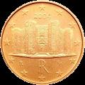 Италия монета 1 евро цент аверс