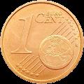 Италия монета 1 евро цент реверс