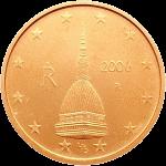 Италия монета 2 евро цента аверс