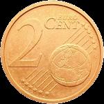Италия монета 2 евро цента реверс