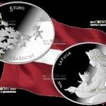 Латвия - монета Ежова шубейка 5 евро - лучшая монета 2016 года