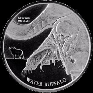 Монета 50 франков КФА Азиатский буйвол, реверс