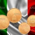 Монеты Италии 1 евроцент и 2 евроцента станут редкими?