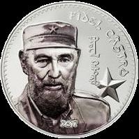 Монголия 1 000 тугриков Фидель Кастро, серебро, реверс