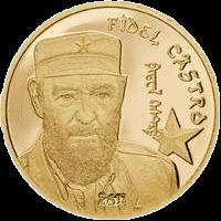 Монголия 1 000 тугриков Фидель Кастро, золото, реверс