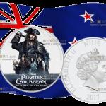Новая Зеландия – 2 доллара Пираты Карибского моря V-я часть