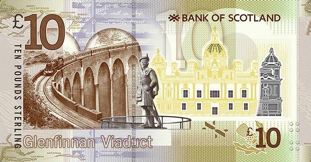 Шотландия банкнота 10 фунтов 2017 года