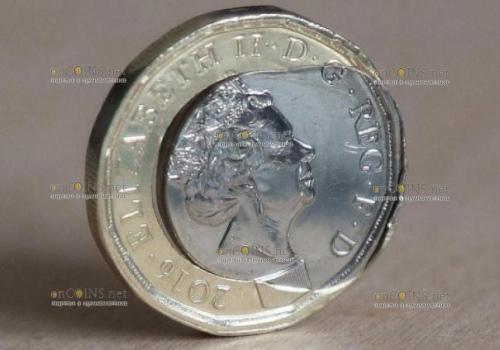 Среди новых монет номиналом 1 фунт стерлингов, много бракованных
