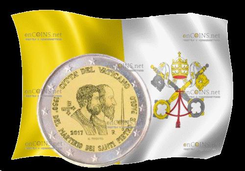 Ватикан - 2 евро Святые Петр и Павел