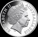 Австралия 1 доллар Чемпионат Мира по футболу в России 2018, серебро, аверс