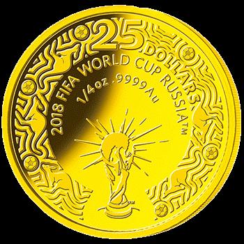 Австралия 25 долларов Чемпионат Мира по футболу в России 2018, золото, реверс