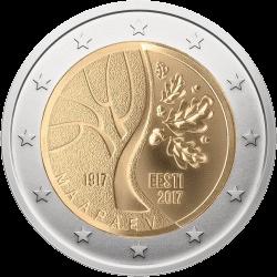Эстония 2 евро Путь Независимости, реверс