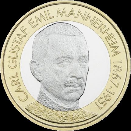 Финляндия 5 евро Карл Маннергейм, реверс