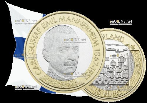 Финляндия 5 евро Карл Маннергейм