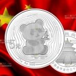 Китай монета 5 юаней Панда, серебро, 2017 год