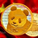 Китай монета 80 юаней Панда, золото, 2017 год