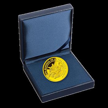 Парагвай монета 1500 гуарани Чемпионат Мира по футболу в России 2018, золото, подарочная упаковка