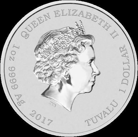 Тувалу монета 1 доллар Охотники за привидениями, аверс