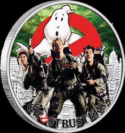 Тувалу монета 1 доллар Охотники за привидениями, реверс