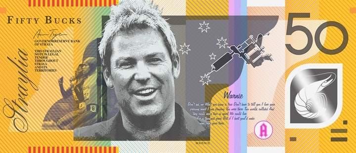 50 австралийских долларов, Шэйн Уорн