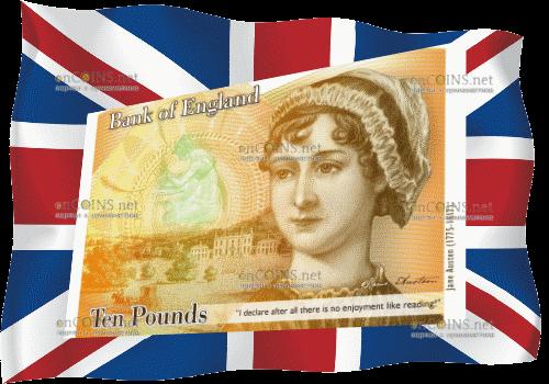 Банк Британии  представит новейшую  банкноту в10 фунтов спортретом Джейн Остин