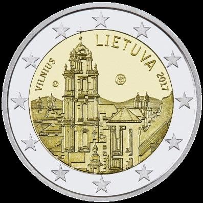 памятная монета 2 евро Старый Вильнюс