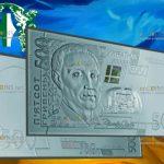В Украине увидела свет банкнота 500 гривен из серебра