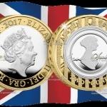 В Англии выйдет в обращение монета 2 фунта стерлингов Джейн Остин