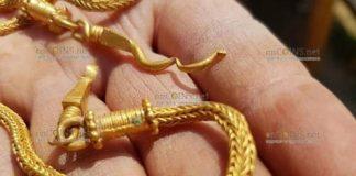 Археологи в Болгарии обнаружили стильное золотое ожерелье