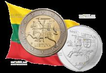 Литва праздничаня монета 1,5 евро День физика
