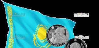 монета 500 тенге Абылай хан, серебро