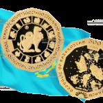 В Казахстане выпускают 12-гранную монету 500 тенге год Собаки, золото