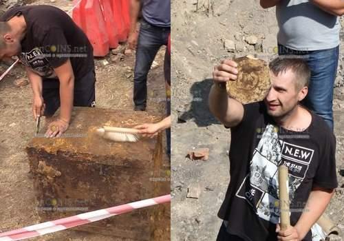 При проведении земляных работ в Виннице нашли сейф