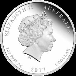 1 доллар 70 лет королевской свадьбы, серебро, аверс