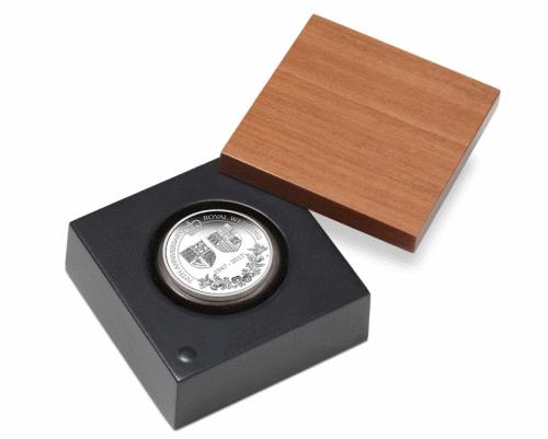 1 доллар 70 лет королевской свадьбы, серебро, подарочная упаковка