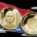 Нидерланды выпустили в обращение монету 10 евро Йохан Кройфф, золото