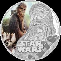 2 доллара серии Звездные войны - Последний джедай, Чубакка, реверс