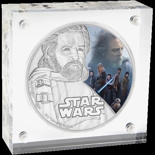 2 доллара серии Звездные войны - Последний джедай, Люк Скайуокер, подарочная упаковка