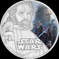 2 доллара серии Звездные войны - Последний джедай, Люк Скайуокер, реверс