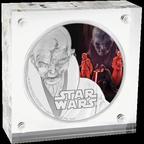 2 доллара серии Звездные войны - Последний джедай, Верховный лидер Сноук, подарочная упаковка
